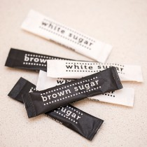 Sugar Tubes White and Brown